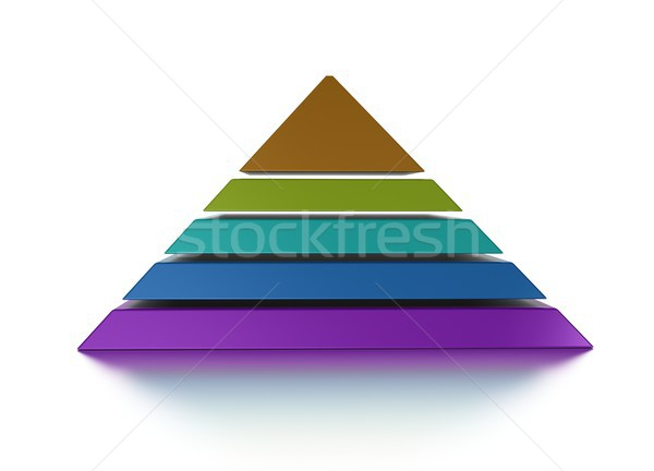 sliced pyramid chart five levels Stock photo © olivier_le_moal