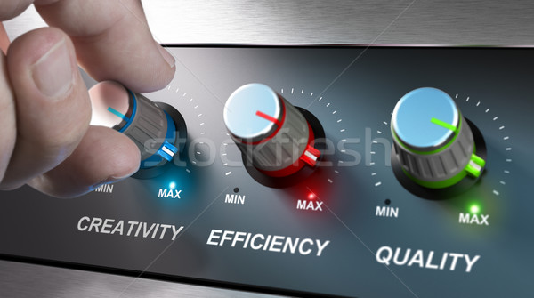 Company Values, Creativity, Efficiency and Quality Stock photo © olivier_le_moal
