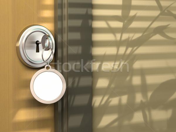 Ingatlan kommunikáció ház hotel iroda zár Stock fotó © olivier_le_moal