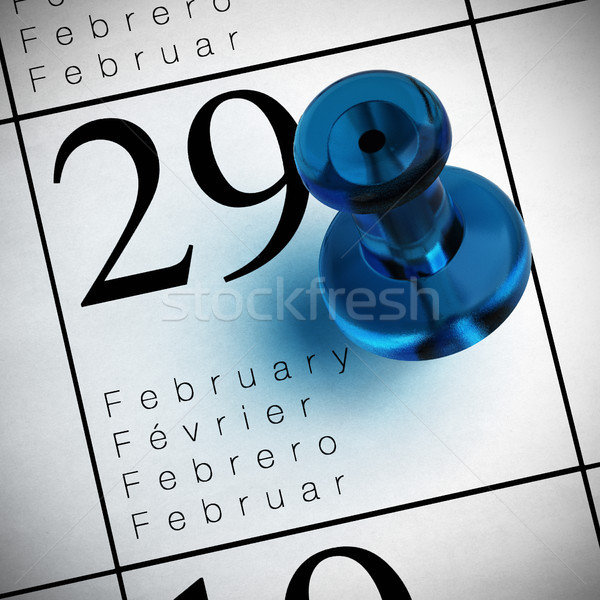 leap year february the 29th Stock photo © olivier_le_moal
