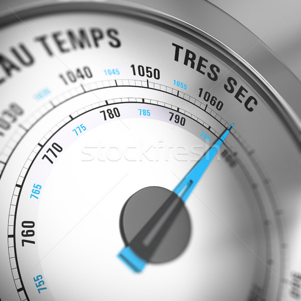 French Barometer Dial Set to Very Dry, Weather Forecast Stock photo © olivier_le_moal