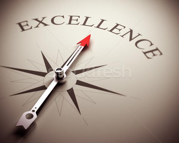 Negócio excelência bússola agulha indicação palavra Foto stock © olivier_le_moal