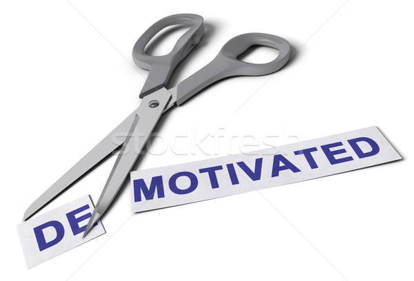 Vs motive makas kesmek kelime iki Stok fotoğraf © olivier_le_moal