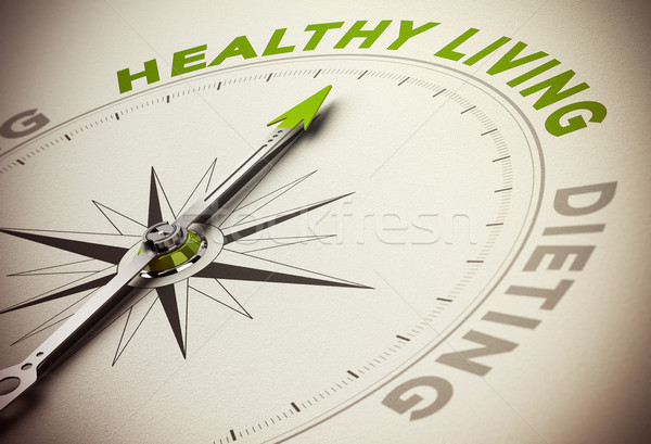 Healthy Life Style VS Diet Concept Stock photo © olivier_le_moal