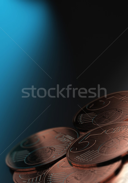 Small Change, Euro Cents Stock photo © olivier_le_moal