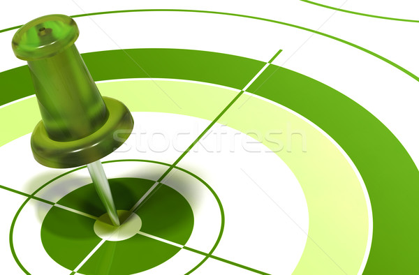 green pushpin on target Stock photo © olivier_le_moal