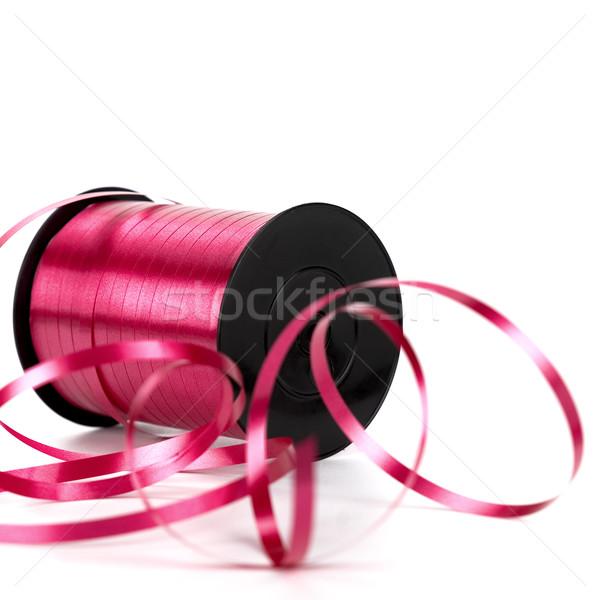 bobbin of pink ribbon Stock photo © olivier_le_moal