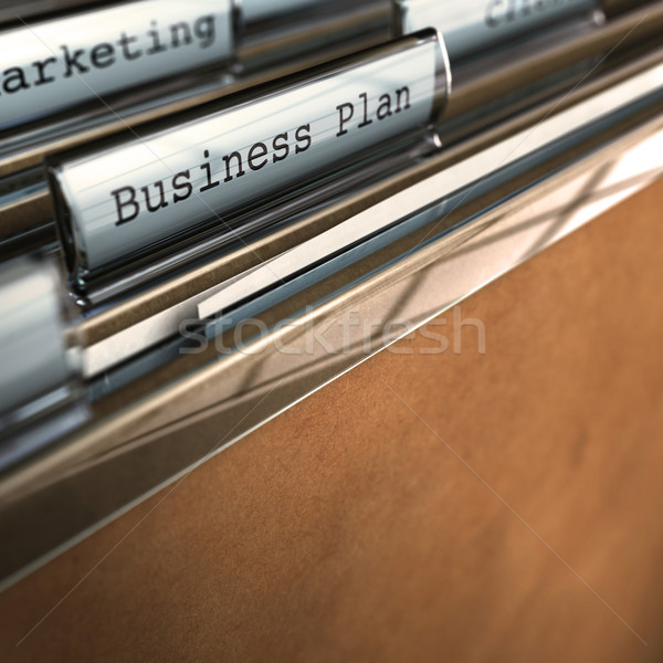Business plan map marketing kamer tekst Stockfoto © olivier_le_moal