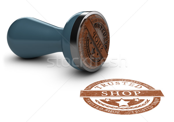 Trusted Shop Mark Over White Stock photo © olivier_le_moal