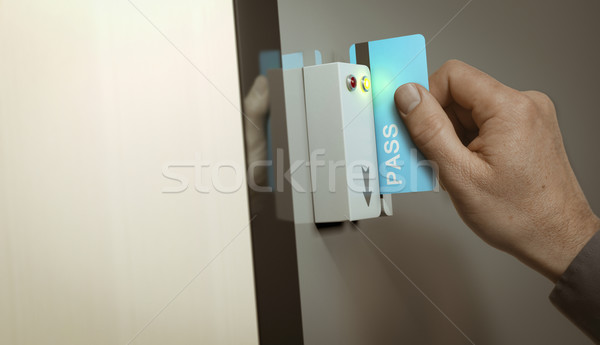Secured Access, Member Pass  Stock photo © olivier_le_moal