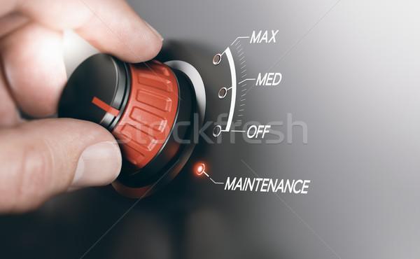 Karbantartás elektronika kapcsoló kéz fogantyú pozició Stock fotó © olivier_le_moal