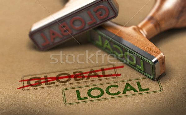 Thinking and Acting Locally, Local Sourcing Stock photo © olivier_le_moal