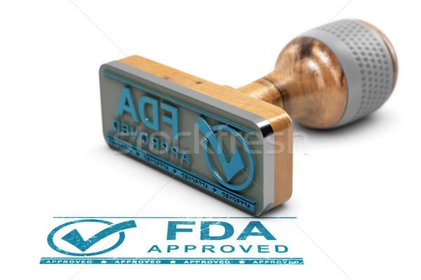 Foto stock: Aprovado · produtos · drogas · aprovação · texto