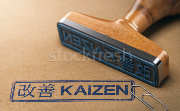 Kaizen Word, Continuous Improvement and Lean Manufacturing Stock photo © olivier_le_moal