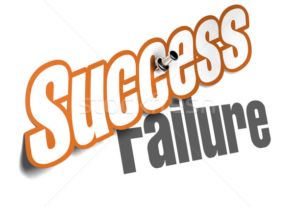 success vs failure over white - coaching concept Stock photo © olivier_le_moal