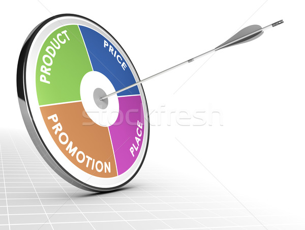 Marketing Mix Concept - 4P Stock photo © olivier_le_moal