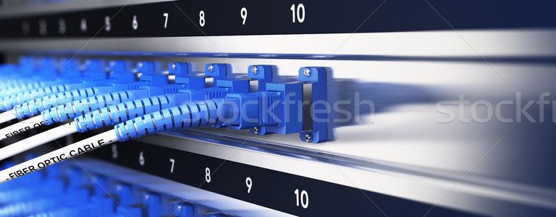 Dados equipamento ótico fibra Foto stock © olivier_le_moal