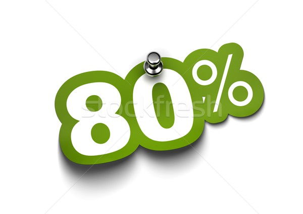 eighty percent sticker Stock photo © olivier_le_moal