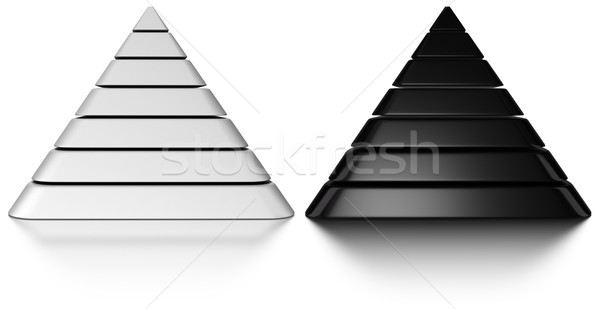 Black and white pyramids Stock photo © olivier_le_moal