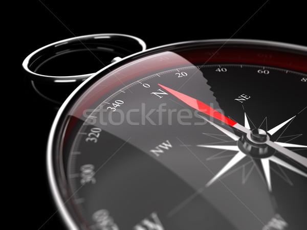 Kompas naald wijzend noorden afbeelding Stockfoto © olivier_le_moal
