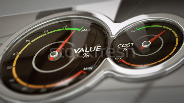 Cost VS Value Analysis Stock photo © olivier_le_moal