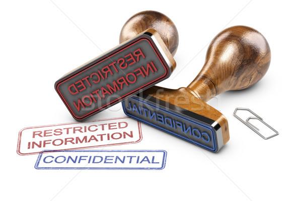 Beperkt informatie vertrouwelijk gegevens twee rubber Stockfoto © olivier_le_moal