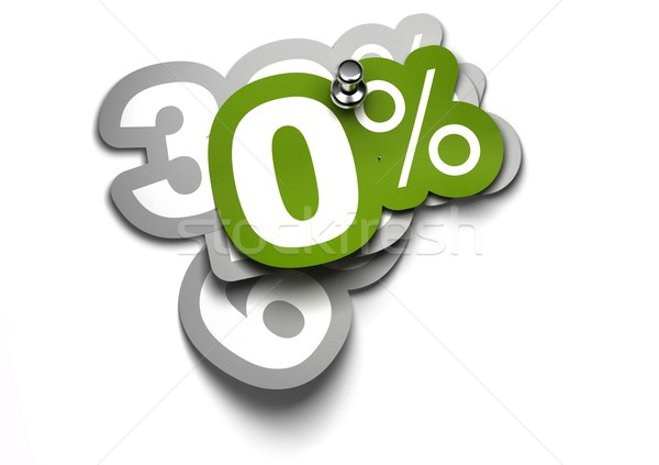 Zero por cento adesivo fixo branco parede Foto stock © olivier_le_moal