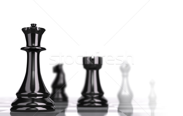 Chessboard Strategic Business Concept Stock photo © olivier_le_moal