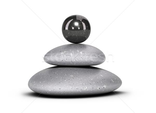 Guijarros piedras dos Foto stock © olivier_le_moal
