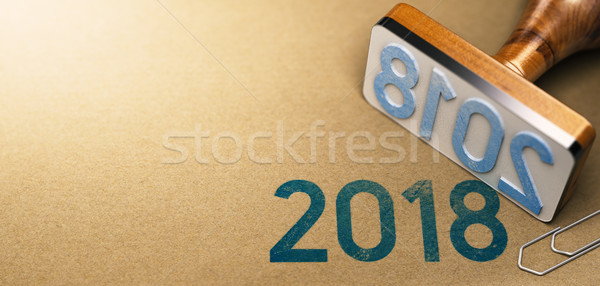 Year 2018, Two Thousand Eighteen. Stock photo © olivier_le_moal