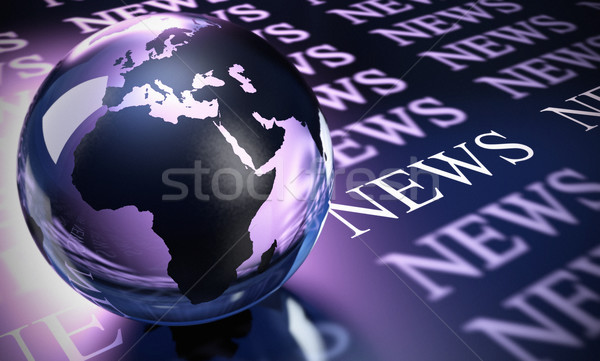 worldwide news background Stock photo © olivier_le_moal