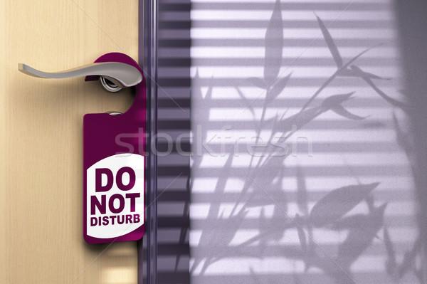 do not disturb, door handler, sign Stock photo © olivier_le_moal