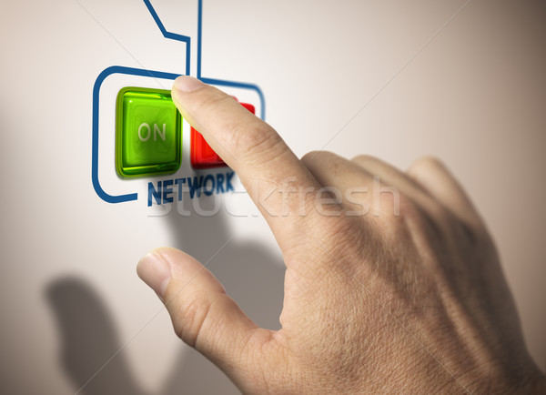 Activate network Stock photo © olivier_le_moal