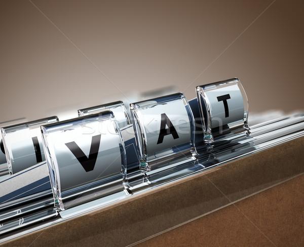 ÁFA érték adó akta fókusz bézs Stock fotó © olivier_le_moal