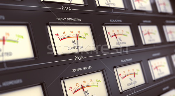 Nagy adattárolás személyes 3d illusztráció klasszikus adat Stock fotó © olivier_le_moal