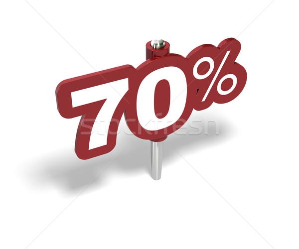 seventy percentage sign, 70 percent Stock photo © olivier_le_moal