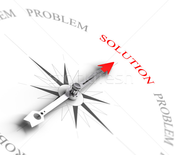 Solution vs Problem Solving - Business Consulting Stock photo © olivier_le_moal