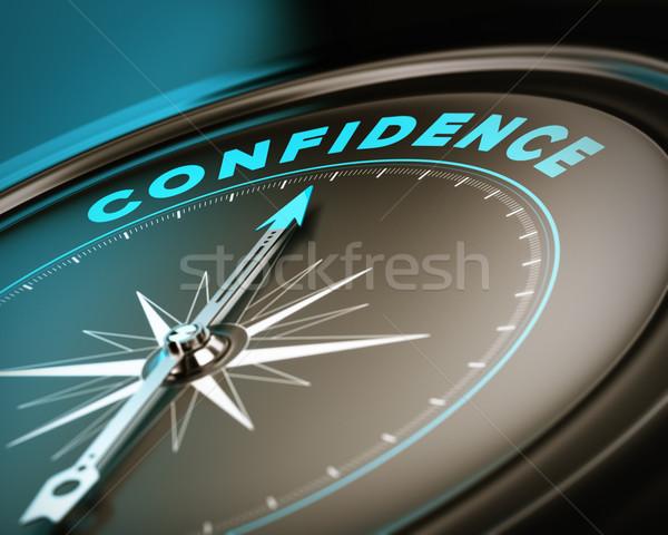 Confiança bússola agulha indicação palavra auto-estima Foto stock © olivier_le_moal