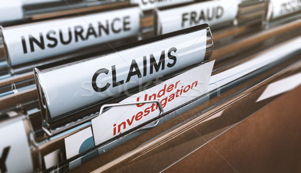 Insurance Company Fraud, Bogus Claims Under Investigations Stock photo © olivier_le_moal