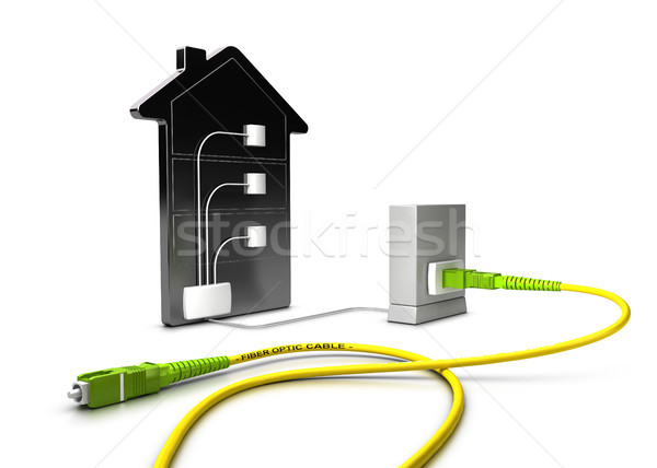 FTTC, Fiber To The Curb 3D Illustration Stock photo © olivier_le_moal