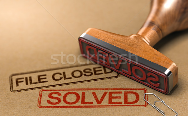 Successful Investigation, File closed and Case Solved Stock photo © olivier_le_moal