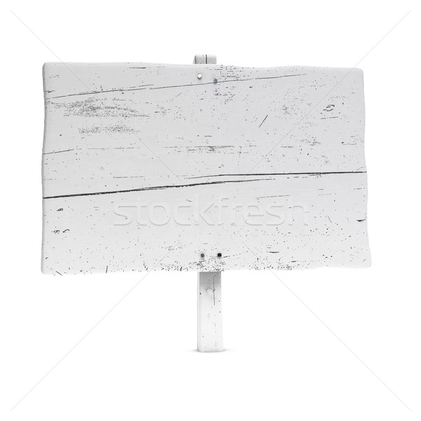blank painted wooden sign, large Stock photo © olivier_le_moal