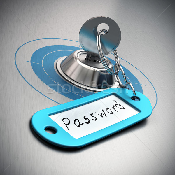 Password protected, internet security Stock photo © olivier_le_moal