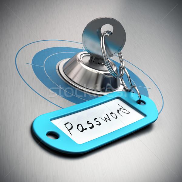 пароль защищенный интернет безопасности ключевые синий Сток-фото © olivier_le_moal