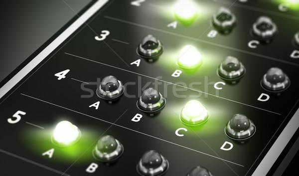 Multiple choix questionnaire illustration noir vert Photo stock © olivier_le_moal