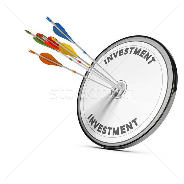Beruházás stratégia öt nyilak központ cél Stock fotó © olivier_le_moal
