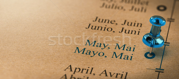Hónapok év naptár fókusz 3d illusztráció projekt Stock fotó © olivier_le_moal