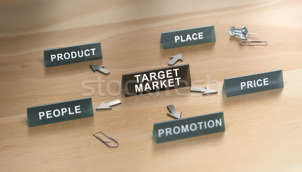 The 5ps of Marketing Mix Over White Background. Stock photo © olivier_le_moal
