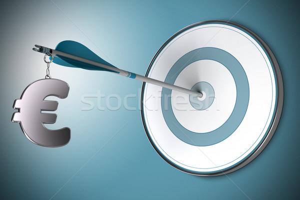 Euro financiële raadgever financieren een symbool Stockfoto © olivier_le_moal