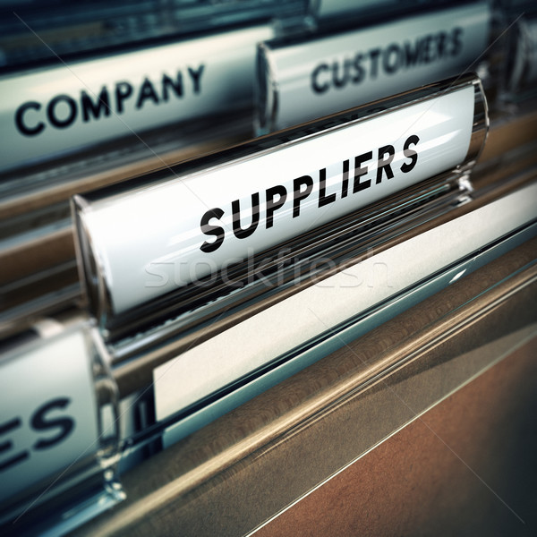 Suppliers Management Concept Stock photo © olivier_le_moal